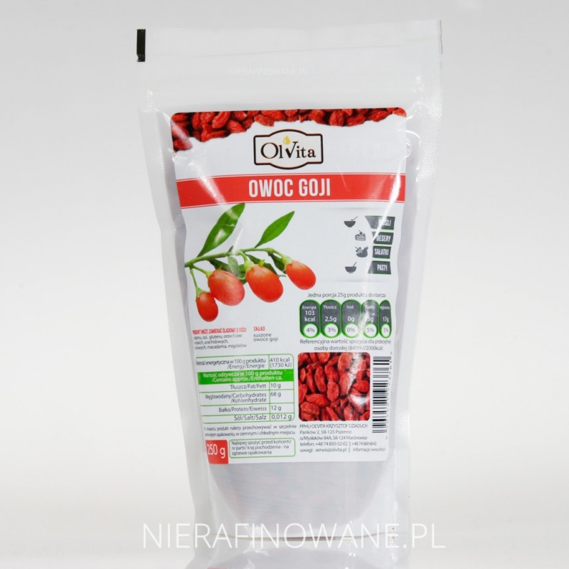Jagody - Owoc Goji - Ol'Vita 250 g