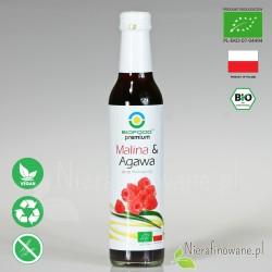 Syrop Malina / Agawa, ekologiczny, Biofood