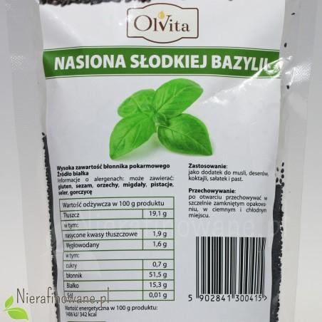 Nasiona słodkiej bazylii - wartości odżywcze