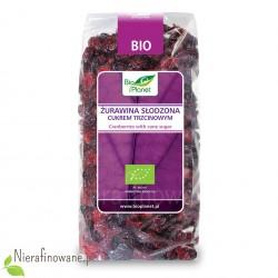 Żurawina suszona BIO, słodzona cukrem trzcinowym, ekologiczna 100 g