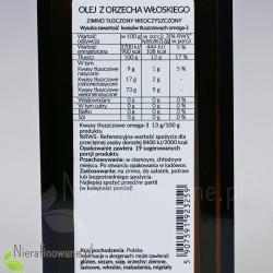 Olej z orzecha włoskiego - wartości odżywcze