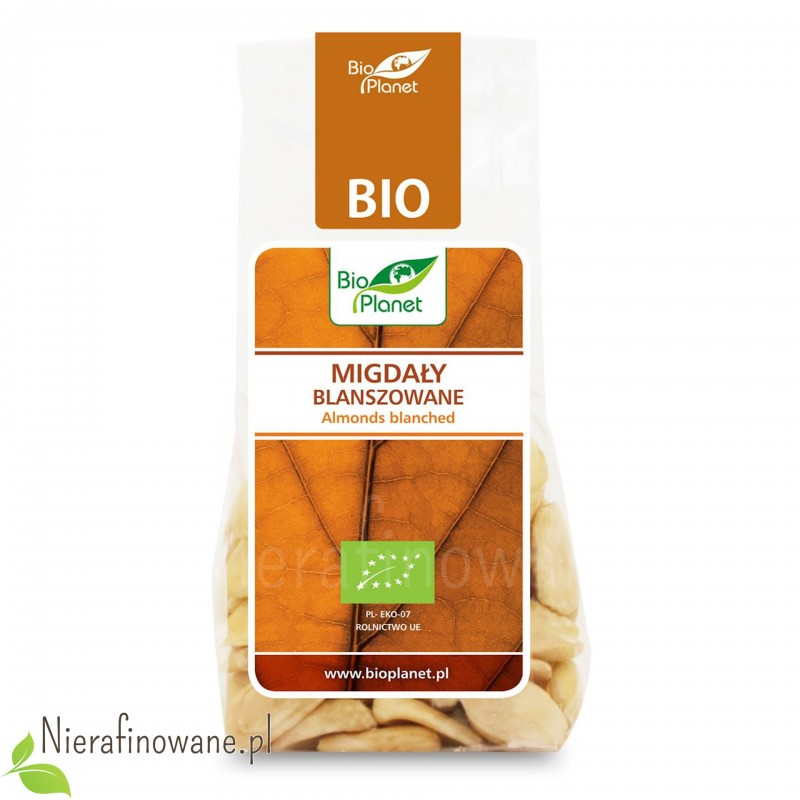 Migdały blanszowane ekologiczne, Bio Planet 100 g