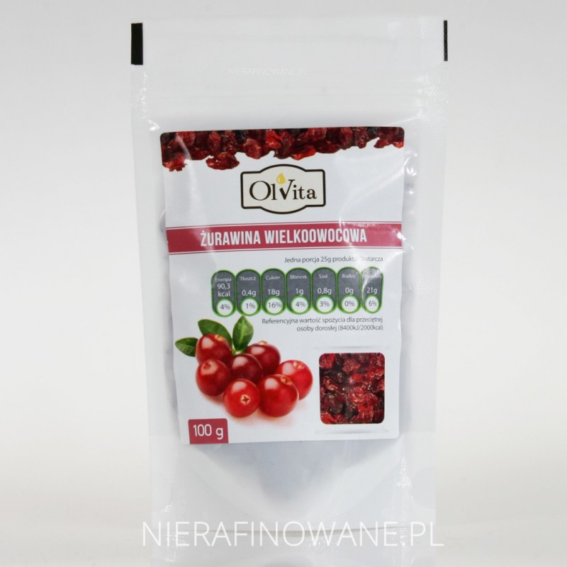 Żurawina Suszona - Owoce - Ol'Vita 100g