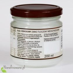 Olej kokosowy - zimno tłoczony, nieoczyszczony Ol'Vita 200 ml