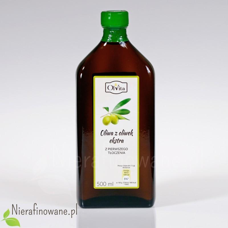 Oliwa z Oliwek Extra z pierwszego tłoczenia, zimnotłoczona Ol'Vita 500 ml