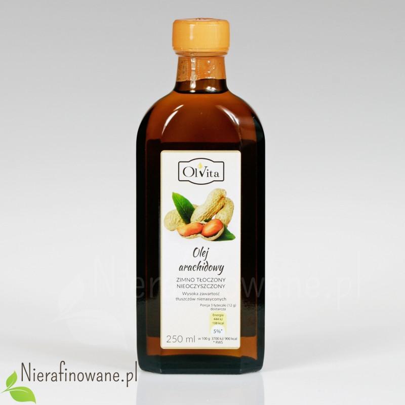 Olej Arachidowy zimnotłoczony, nieoczyszczony - Ol'Vita 250 ml
