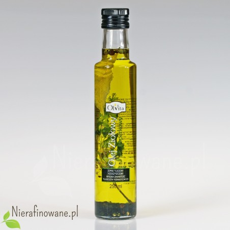 Olej Ziołowy Koperkowy, zimnotłoczony, nieoczyszczony - Ol'Vita 250 ml