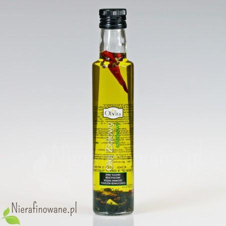 Olej Ziołowy Sałatkowy, zimnotłoczony, nieoczyszczony - Ol'Vita 250 ml