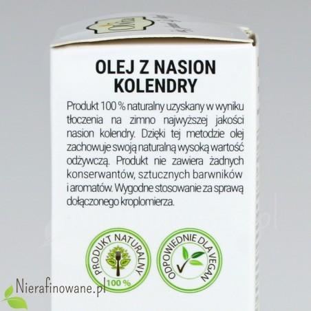 Olej z Nasion Kolendry, zimnotłoczony, nieoczyszczony - Ol'Vita