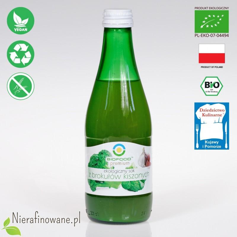 Sok z Brokułów Kiszonych, ekologiczny, BioFood