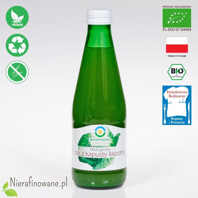 Sok z Kapusty Kiszonej, ekologiczny, BioFood - 300 ml