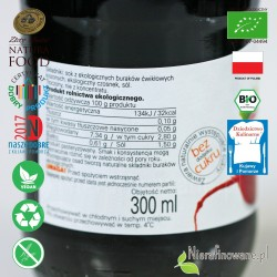 Sok z Buraków Kiszonych, ekologiczny, BioFood