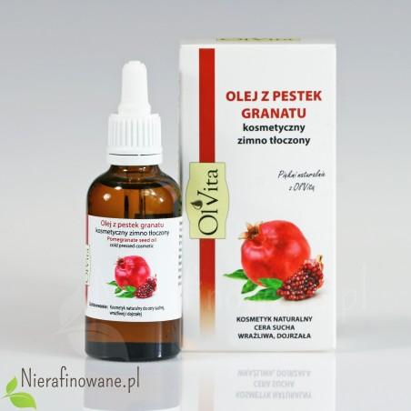 Olej z Pestek Granatu - kosmetyczny, zimnotłoczony Ol'Vita - 50 ml