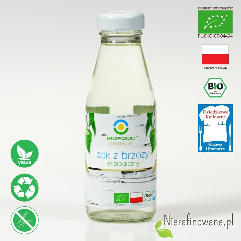 Sok z Brzozy, ekologiczny - Biofood - 200 ml