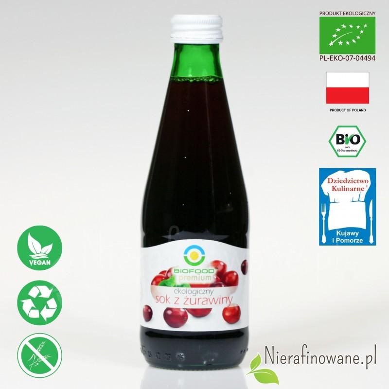 Sok z Żurawiny, ekologiczny, tłoczony - Biofood
