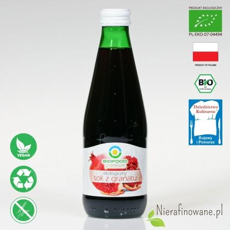 Sok z Granatu, ekologiczny, tłoczony - Biofood