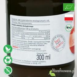 Sok Pomidorowy, ekologiczny, tłoczony - Biofood - etykieta