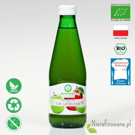 Sok Jabłkowy, ekologiczny, tłoczony - Biofood - 300 ml