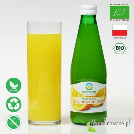 Sok Pomarańczowy, ekologiczny, tłoczony - Biofood - propozycja podania