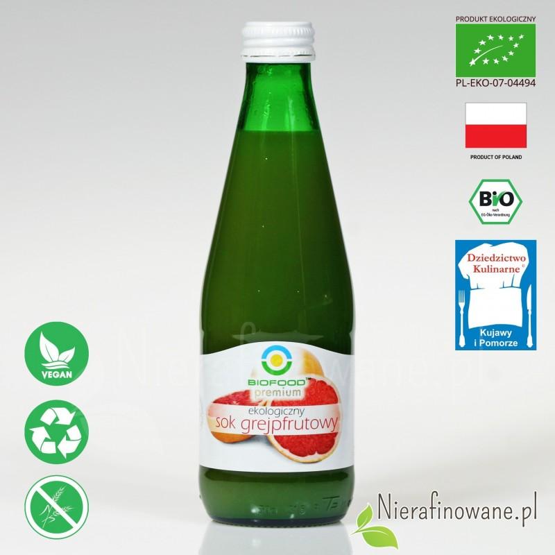 Sok Grejpfrutowy, ekologiczny, tłoczony - Biofood