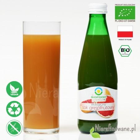 Sok Grejpfrutowy, ekologiczny, tłoczony - Biofood - propozycja podania