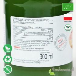 Sok Grejpfrutowy, ekologiczny, tłoczony - Biofood - etykieta