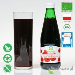 Sok Malinowy, ekologiczny, tłoczony - Biofood - propozycja podania
