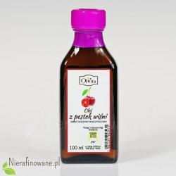Olej z Pestek Wiśni, zimnotłoczony, nieoczyszczony, Ol'Vita 100 ml