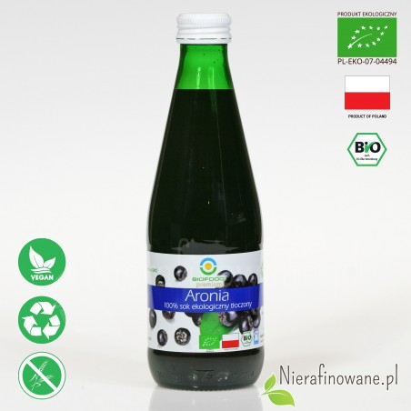 Sok z Aronii, ekologiczny, NFC, Biofood