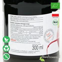 Sok Jabłkowo-Burakowy, ekologiczny, NFC, Biofood - etykieta