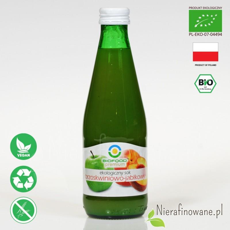 Sok Brzoskwiniowo-Jabłkowy, ekologiczny, NFC, Biofood