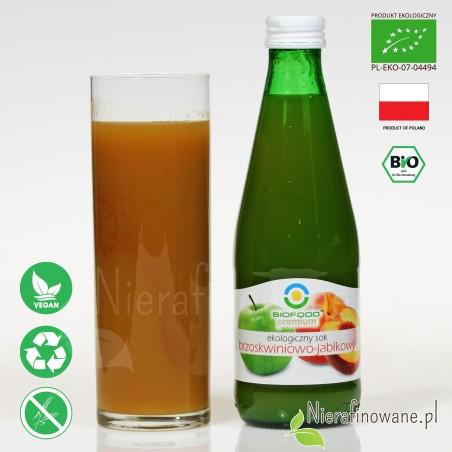 Sok Brzoskwiniowo-Jabłkowy, ekologiczny, NFC, Biofood - propozycja podania