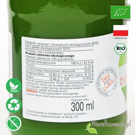 Sok Brzoskwiniowo-Jabłkowy, ekologiczny, NFC, Biofood - etykieta