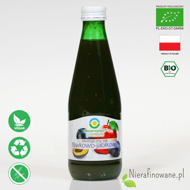 Sok Śliwkowo-Jabłkowy, ekologiczny, NFC, Biofood