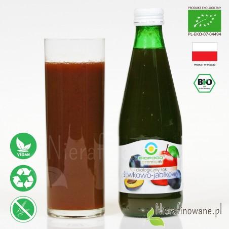 Sok Śliwkowo-Jabłkowy, ekologiczny, NFC, Biofood - propozycja podania