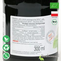 Sok Aroniowo-Jabłkowy, ekologiczny, NFC, Biofood - etykieta