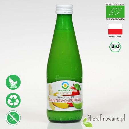 Sok Bananowo-Jabłkowy, ekologiczny, NFC, Biofood
