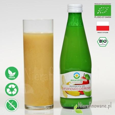 Sok Bananowo-Jabłkowy, ekologiczny, NFC, Biofood - propozycja podania