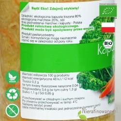 Kapusta Kiszona, ekologiczna, Biofood - wartości odżywcze