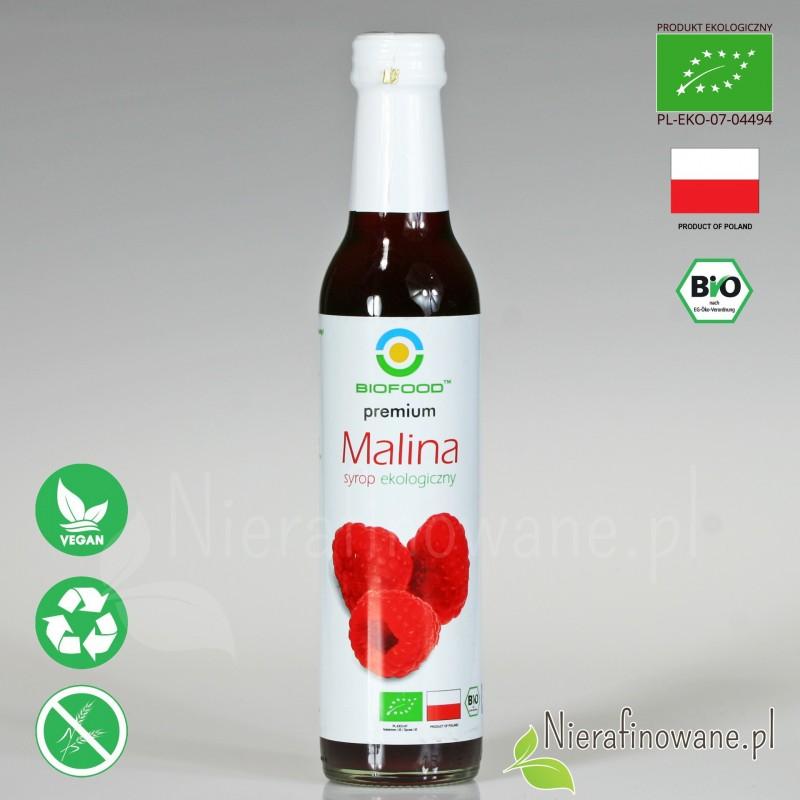 Syrop Malinowy, ekologiczny, Biofood