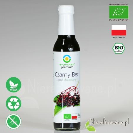 Syrop z Czarnego Bzu, ekologiczny, Biofood