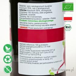 Barszcz z Buraków Kiszonych, ekologiczny, Biofood - wartości odżywcze