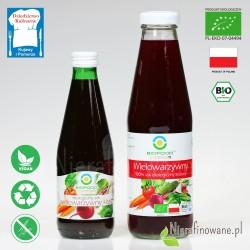 Sok Wielowarzywny Kiszony, ekologiczny, BioFood - 300 ml