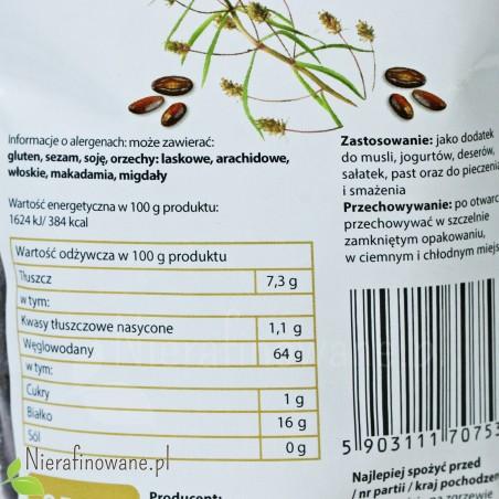 Nasiona babki płesznik - Ol'Vita - etykieta, wartości odżywcze