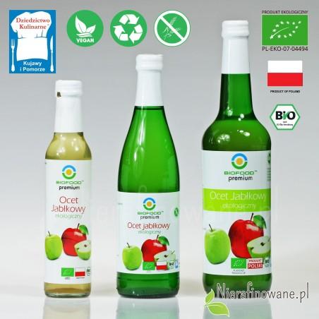 Ocet Jabłkowy - ekologiczny, nieklarowany, BioFood - 0.25, 0.5 i 0.7 l