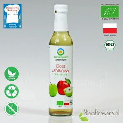 Ocet Jabłkowy - ekologiczny, nieklarowany, BioFood - 250 ml