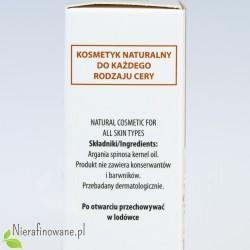 Olej arganowy - kosmetyczny nierafinowany Ol'Vita - etykieta