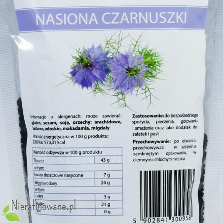 Czarnuszka - Nasiona / Ziarna - Nigella Sativa, Ol'Vita - wartości odżywcze