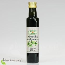 Olej Konopny, zimnotłoczony, Oleje Świecie 250 ml - szklana butelka
