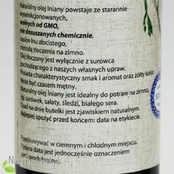 Olej lniany zimnotłoczony Oleje Świecie - opis